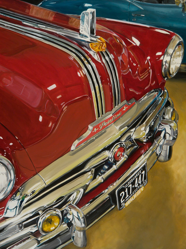 1953 Pontiac in red by Raelee Edgar