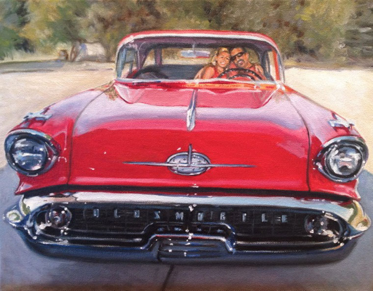 1957 Red Olsmobile by Raelee Edgar