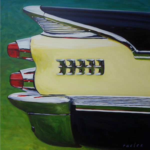 59 Dodge Royal Lancer original il painting by Raelee Edgar