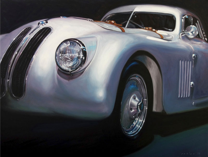BMW 328 Mille Miglia painting by Raelee Edgar