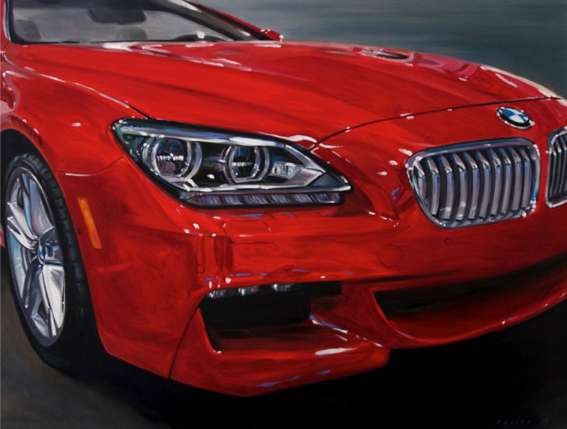 BMW 6 series painting by Raelee Edgar