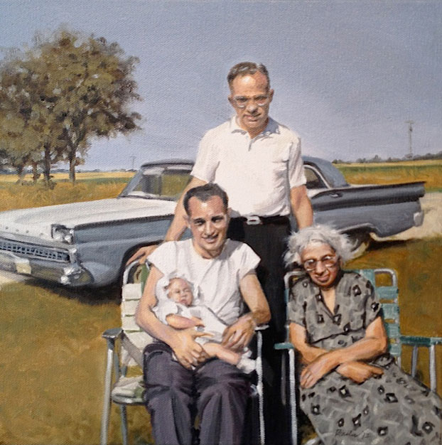 Four Generations Portrait painting by Raelee Edgar
