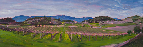 Napa Valley Vineyard original oil painting by Raelee Edgar