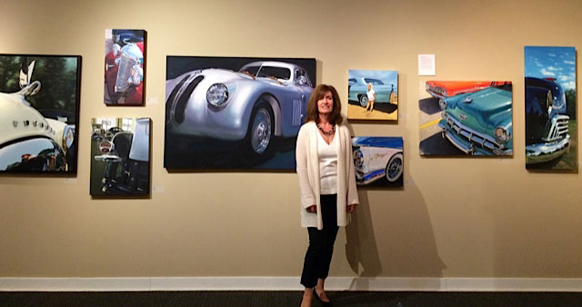 Raelee Edgar Exhibition of Classic Car Oil Paintings