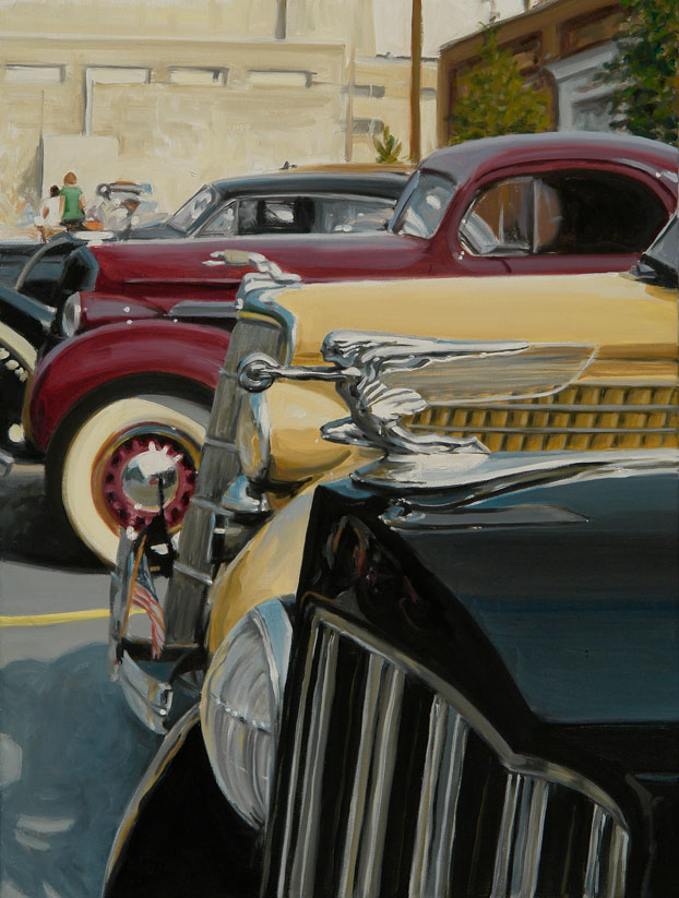 Winged Lady classic cars by Raelee Edgar
