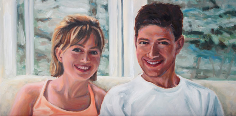 double portrait painting by Raelee Edgar