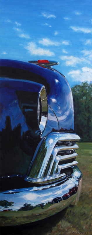 Oldsmobile painting by Raelee Edgar