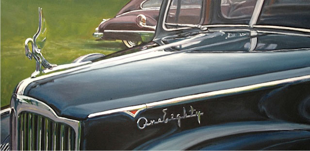 Packard classic car paintings by Raelee Edgar