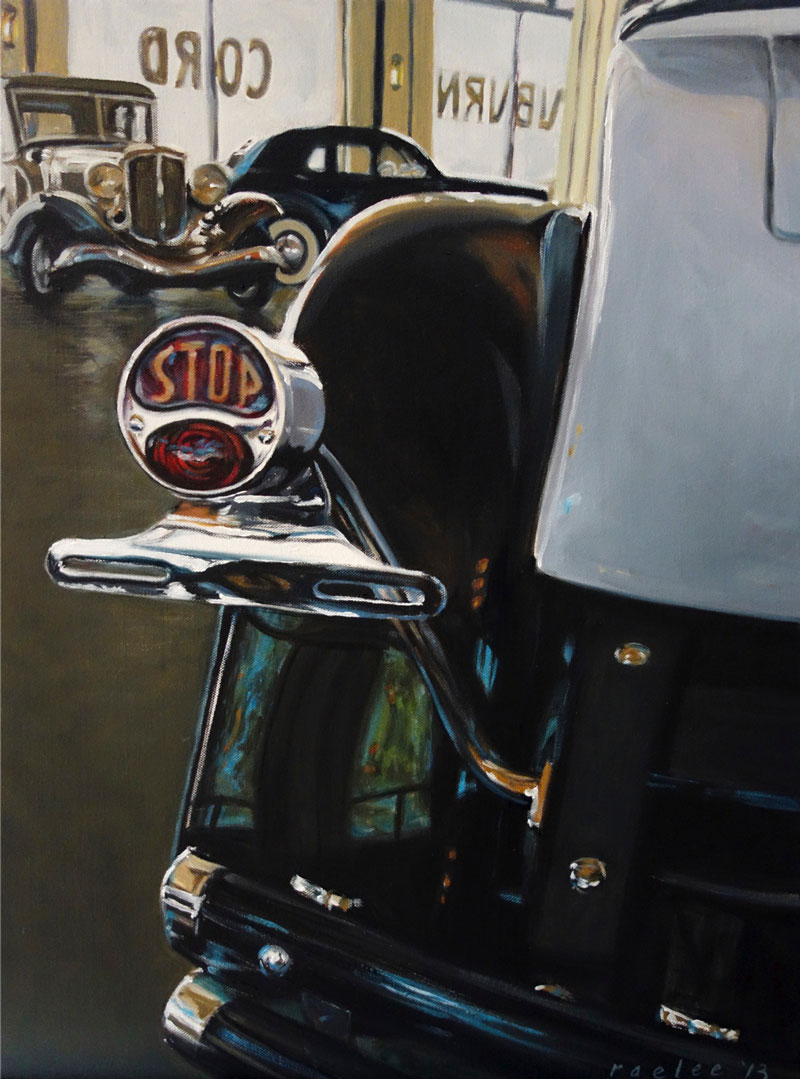 Old Classic car paintings by Raelee Edgar