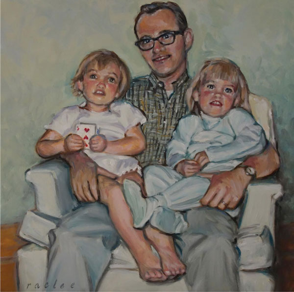 family portraits in oil by Raelee Edgar